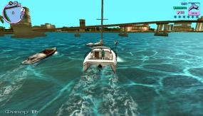 Grand Theft Auto Vice City передвижение на лодке