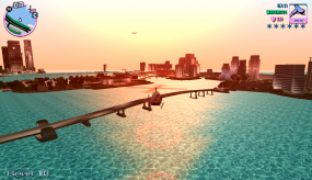 Полёт на вертолете в Grand Theft Auto Vice City