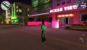 Grand Theft Auto Vice City ночной город