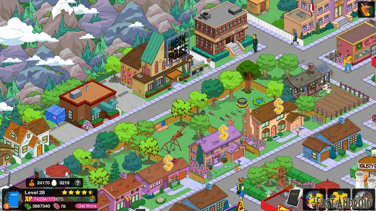 how to set up a town in simpsons tapped out