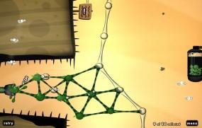 World of Goo создайте постройку с шариков