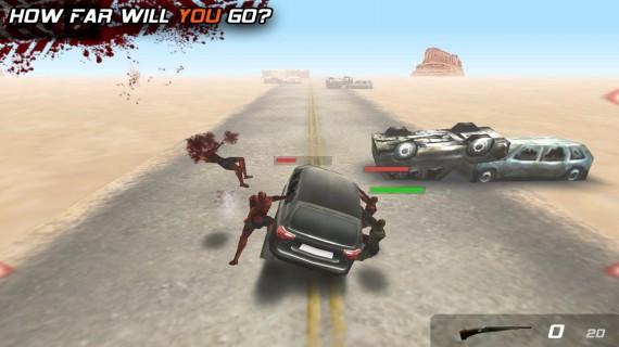Сбивайте зомби на машине в Zombie Highway