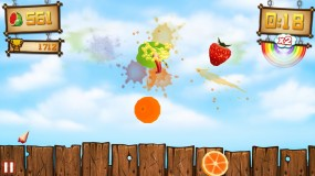 Игра Fruit Ninja vs Skittles