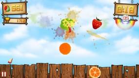 Игра Fruit Ninja vs Skittles
