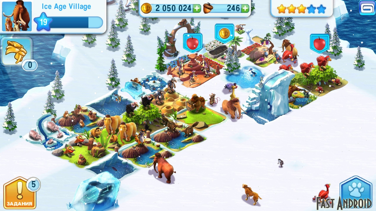 Скачать Игру Ледниковый период: Деревушка на Андроид бесплатно