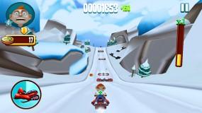 Приключения зимой Skiing Fred