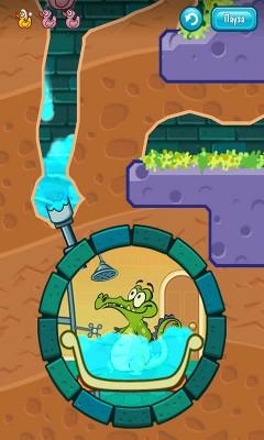 Движение воды к трубе в Wheres Water