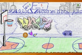 Набери максимальное количетсов очков в Doodle Basketball