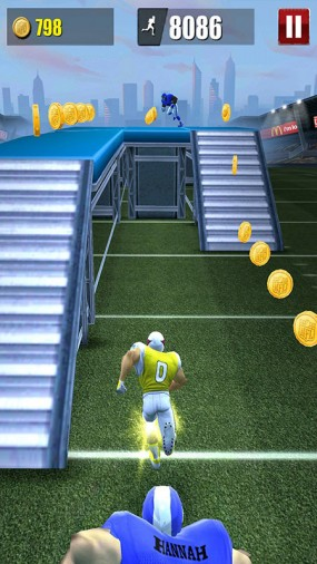 Спринт в NFL Runner Football Dash