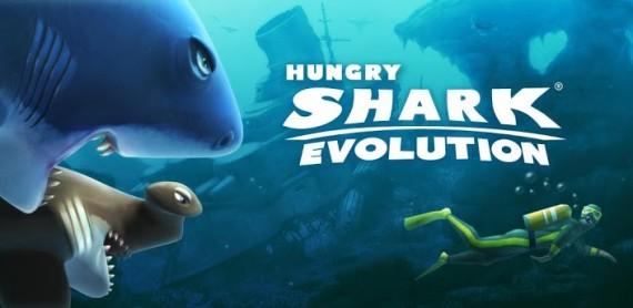 Заставка игры Hungry Shark Evolution