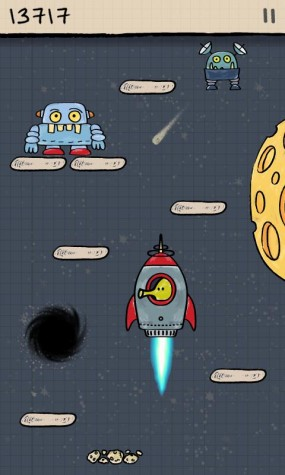 Популярная мобильная игра Doodle Jump