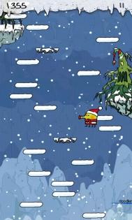 Doodle Jump Christmas прыгайте по заснеженным платформам