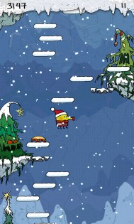 Популярная игра Doodle Jump Christmas