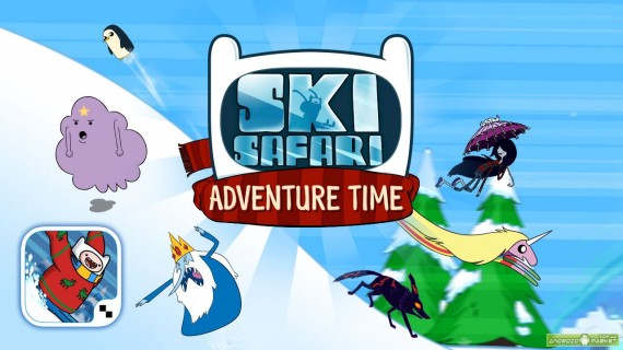 Заставка Ski Safari Adventure Time