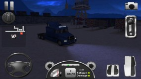 Truck Simulator 3D ночной режим