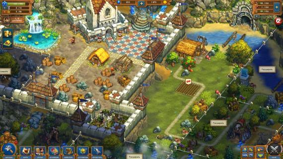 Восстановите королевство в игре The Tribez Castlez