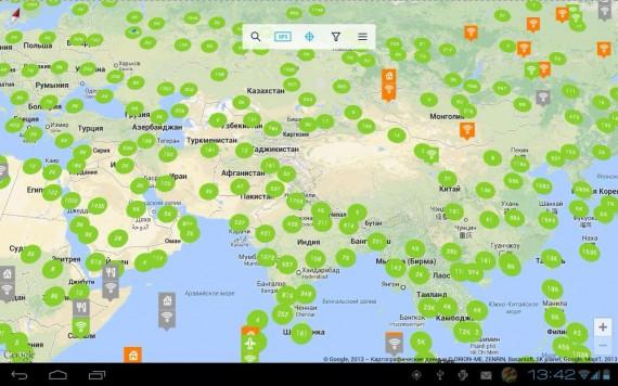 карта бесплатных точек wi-fi