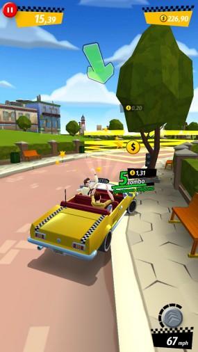 Развозите клиентов в Crazy Taxi City Rush