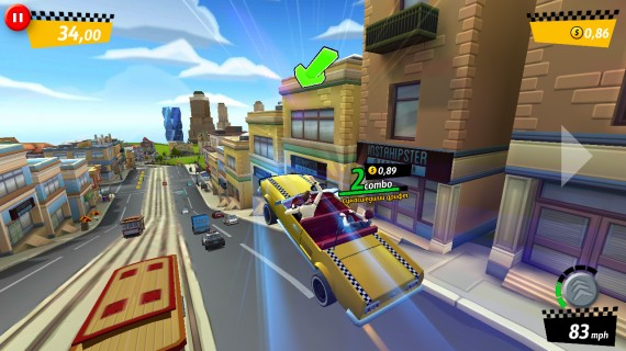 Прыжок в Crazy Taxi City Rush