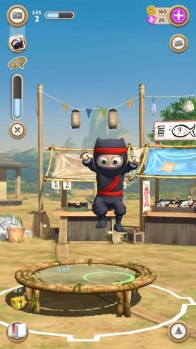 Clumsy Ninja  тренируйте ниндзю