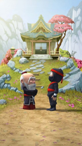 Clumsy Ninja играйте за неуклюжего бойца