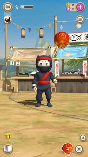 Забавная аркада Clumsy Ninja