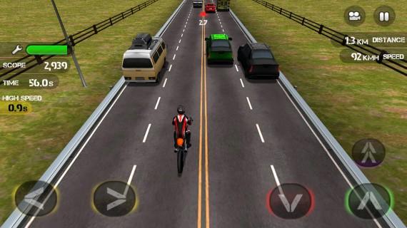 Игра Race the Traffic Moto
