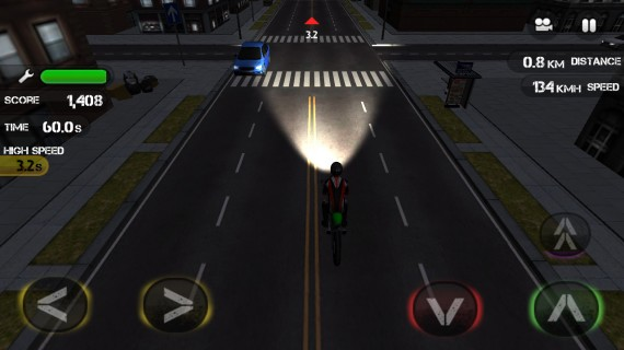 Раннер на мотоциклах Race the Traffic Moto