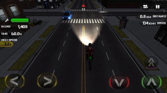 Раннер на мотоциклах Race the Traffic Moto