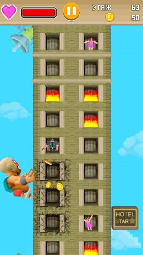 Super Monster Mayhem заберитесь как можно дальше на небоскреб
