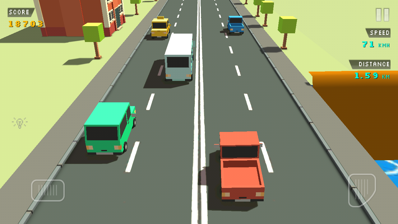 Раннер Blocky Traffic Racer
