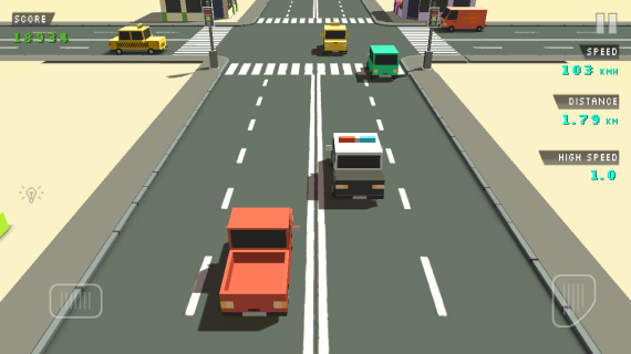 Blocky Traffic Racer для Android