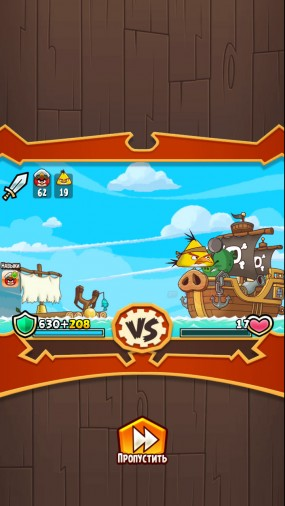 "Игра ""Три в ряд"" Angry Birds Fight"