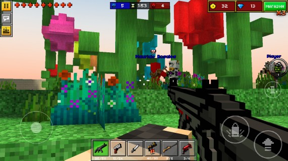 Уничтожайте зомби в Pixel Gun 3D