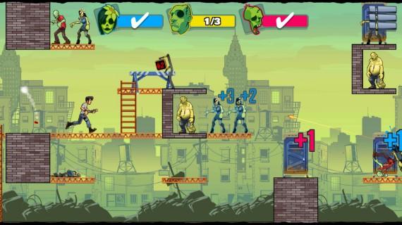 Уничтожайте зомби в Stupid Zombies 3