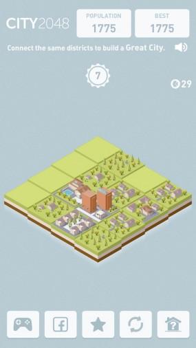 Логическая игра City 2048