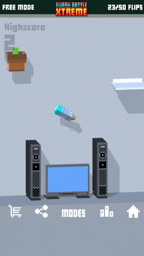 Игра на точность flippy bottle extreme