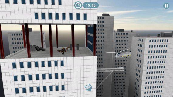 Отважные прыжки с парашютом в stickman base jumper 2